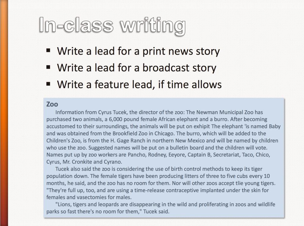 Writing exercise #2